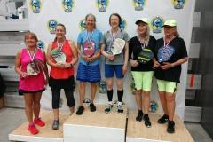 Women's Doubles 3.0, 50+Patricia Knapp/Pam Woodruff - Gold Katinka Nanna/Lynda Schroeder - Silver