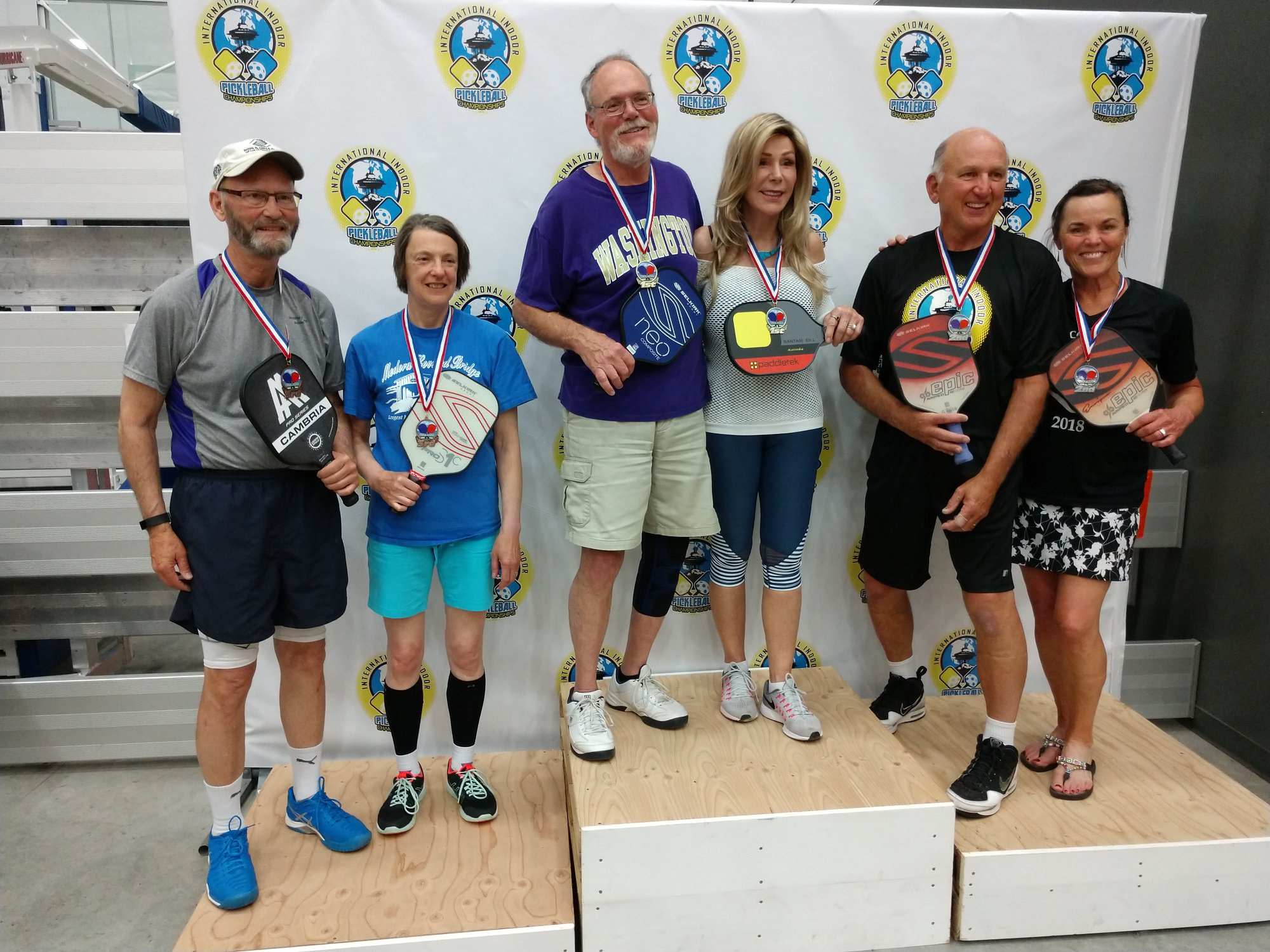 Mixed Doubles 3.0, 60+Katinka Nanna/Richard Cary - GoldSharman Owings/Gary Poor - SilverPam Woodruff/Jim Deckman - Bronze