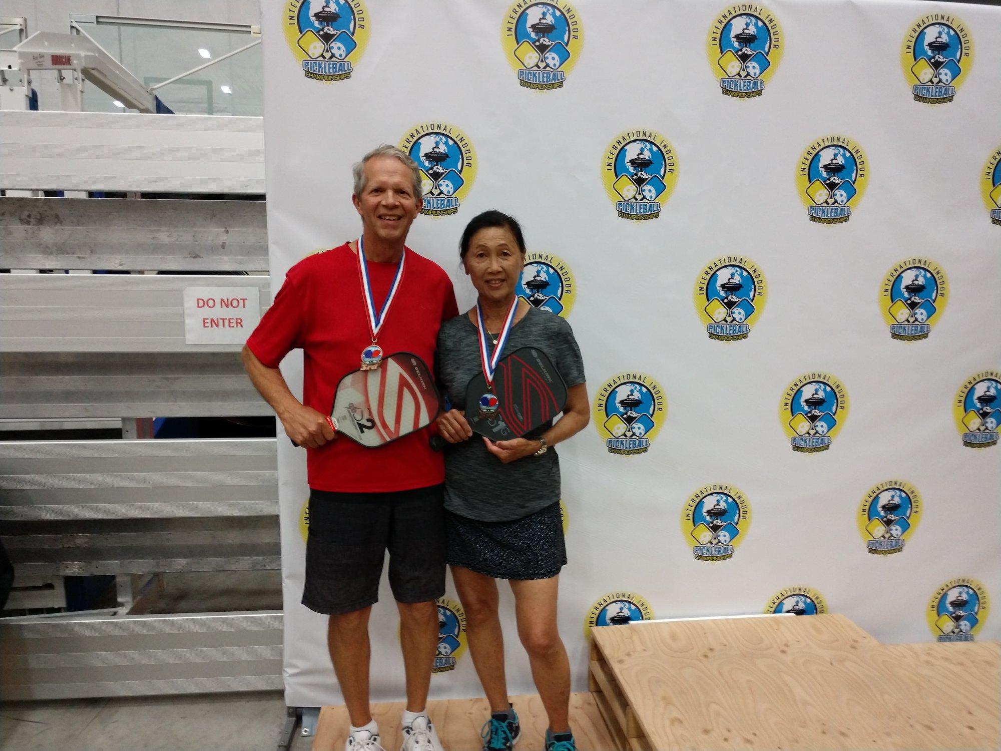 Mixed Doubles 3.5, 60+Ruby Pugh/Charlie Pugh - Bronze